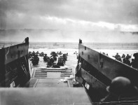 Assault landing. 1 of the first waves at Omaha. Company E, 16th Infantry, 1st Infantry Division. Source: U.S. National Archives, CG 2343.