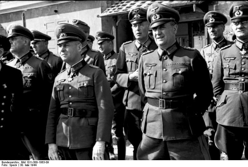 German Army Field Marshal Erwin Rommel at the Atlantic Wall near Ouistreham, Normandy, France. (May 30, 1944). Source: German Federal Archive, Bild 101I-300-1863-09.