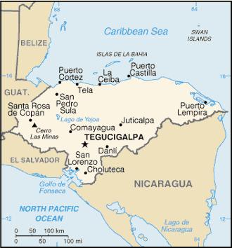Honduras-CIA_WFB_Map
