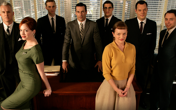 "The ""Mad Men"" cast of Season One."