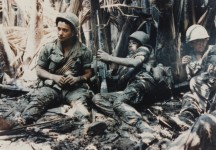 US-Army-troops-taking-break-while-on-patrol-in-Vietnam-War