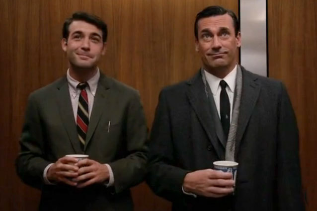 The character on the right, Bob Benson, is a closeted gay man on the show. Many criticize