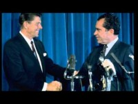 Reagan Gives Call of Support to Nixon During Watergate