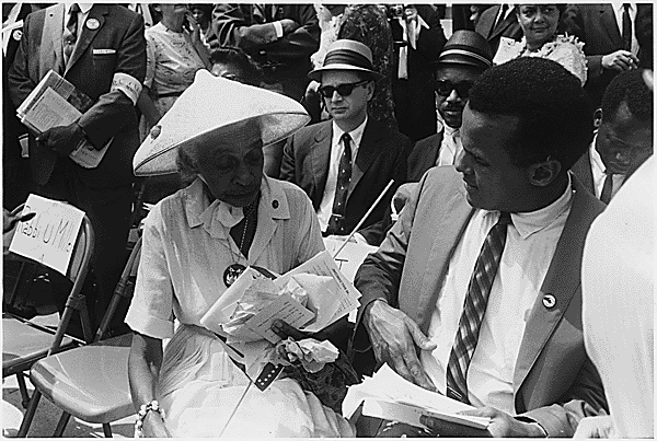Actor Harry Belafonte at the March. (Aug. 28, 1963). Source: U.S. National Archives #542067.