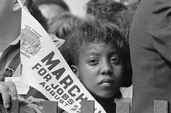Demonstrator at the March. (Aug. 28, 1963). Source: U.S. National Archives.