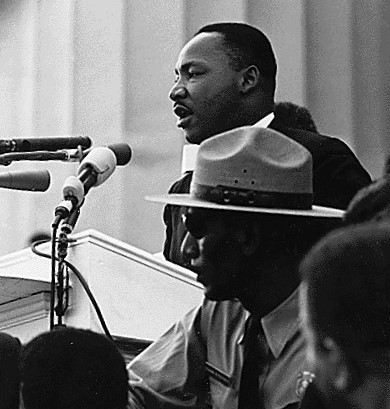 "Dr. Martin Luther King giving his ""I Have a Dream"" speech. (Aug. 28, 1963). Source: U.S. National Archives #542069."
