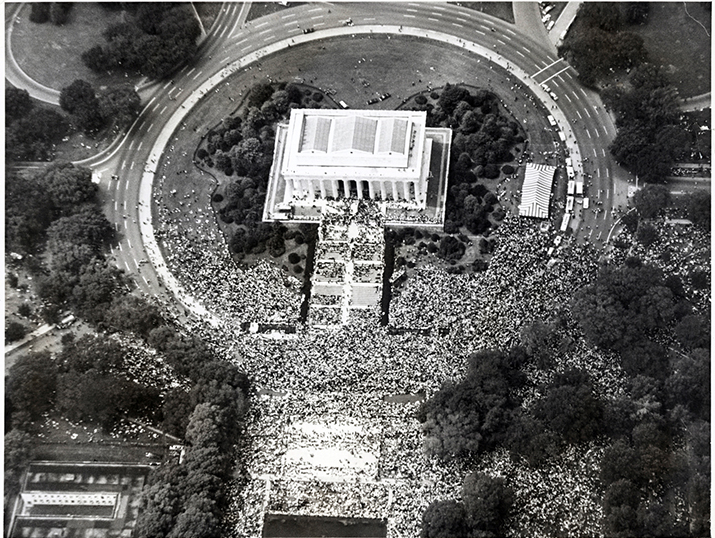 Crowds at the Memorial. (Aug. 28, 1963). Source: United Press International, New York World-Telegram & the Sun Newspaper Photograph Collection, Library of Congress #039.00.00.