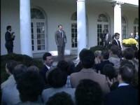 Reagan Celebrates Bush Win in Rose Garden 1988