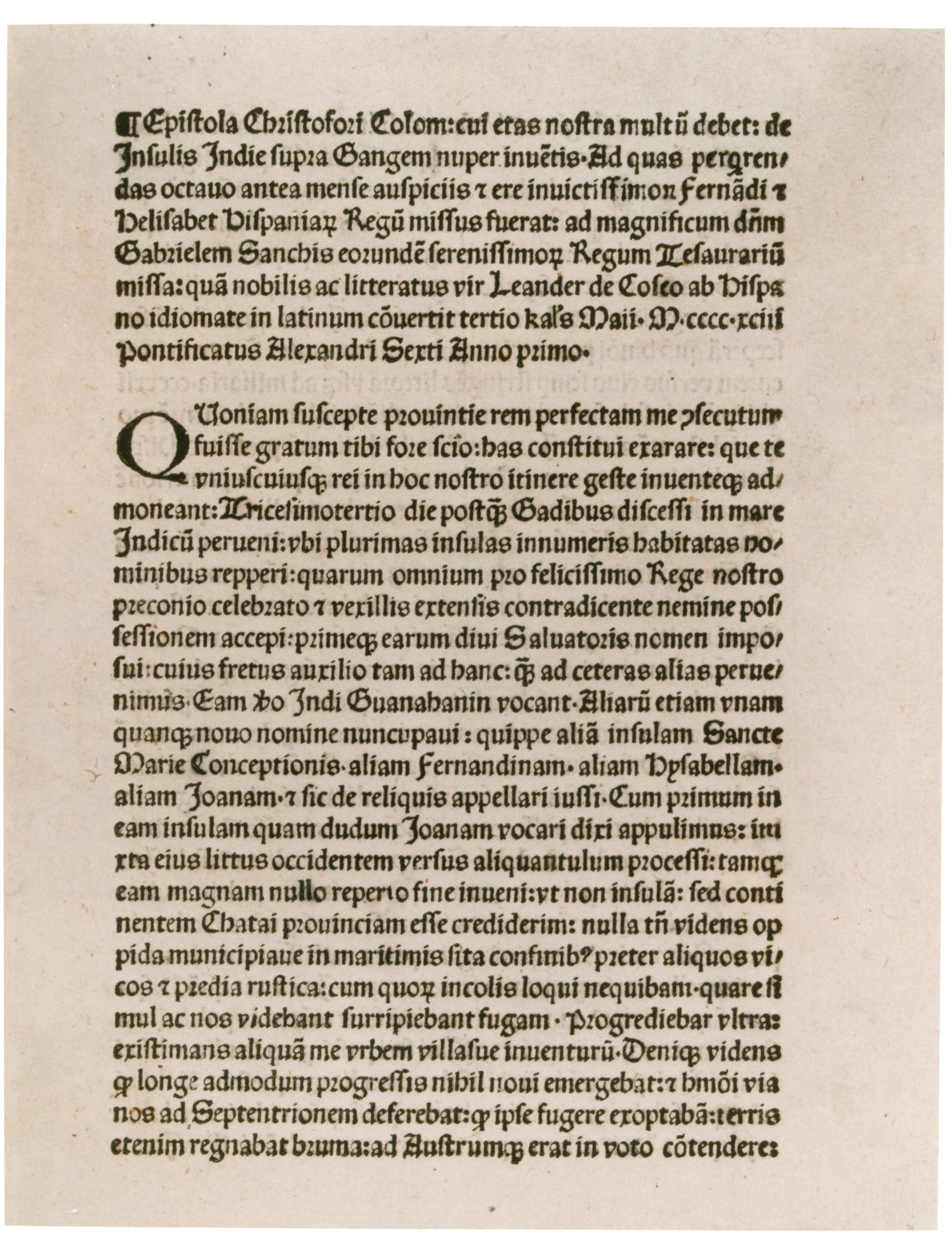 columbus letter of new world View notes - 3 christopher columbus letter to king ferdinand and queen isabella from hist 105 at purdue university christopher columbus letter christopher columbus explored the new world from 1492.
